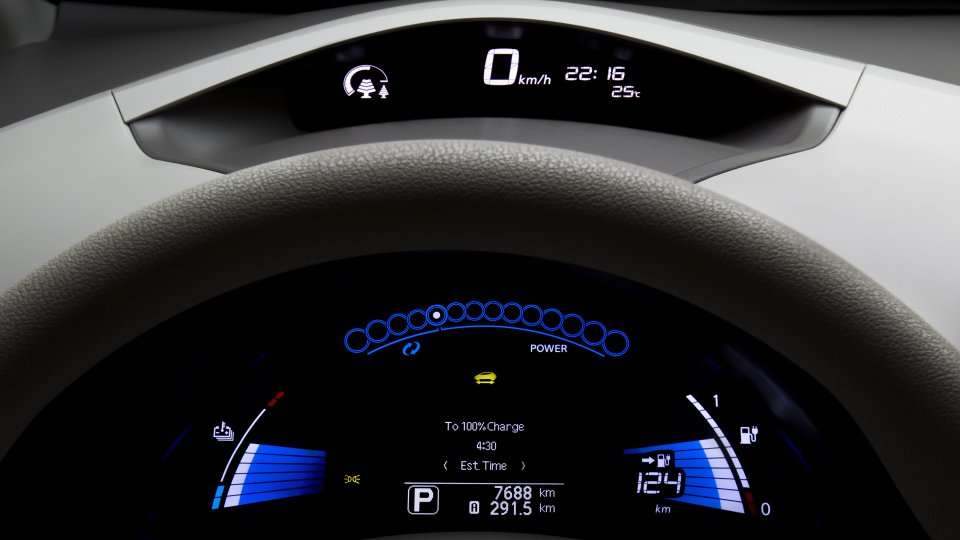 Nissan Leaf dashboard display